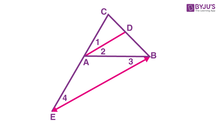 Triangle angle bisector theorem