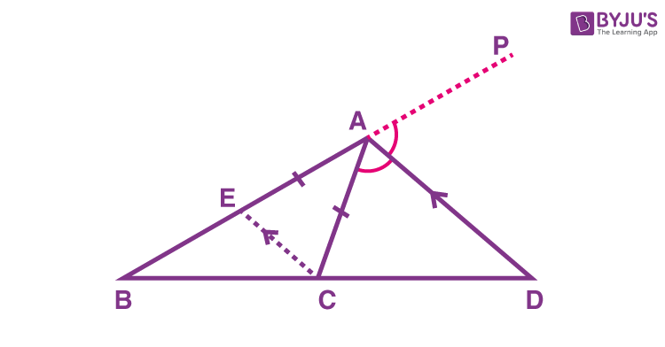 Exterior angle bisector theorem