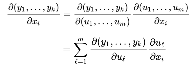 Chain rule for partial derivatives