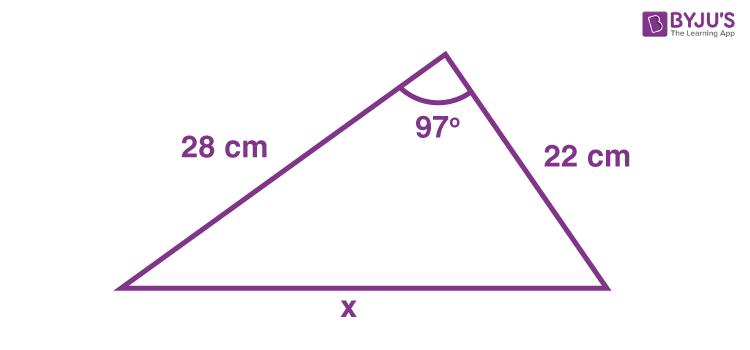 Cosine rule example