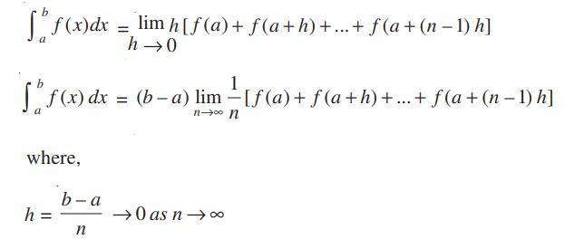 Definite integral expansion