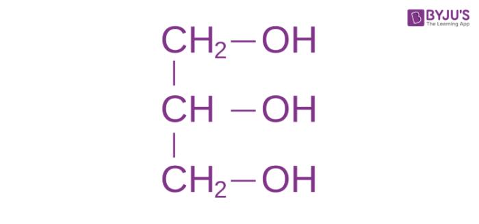Structural Formula of Glycerol