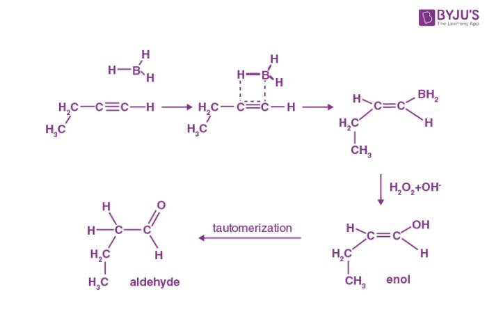 Hydroboration Oxidation Alkyne Mechanism