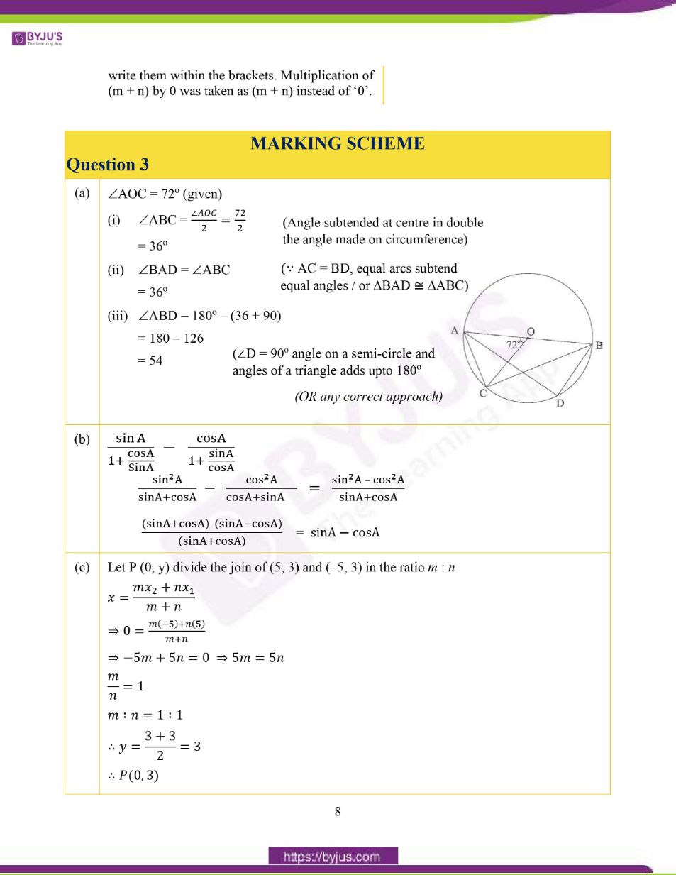 ICSE Class 10 Maths Question Paper Solution 2020