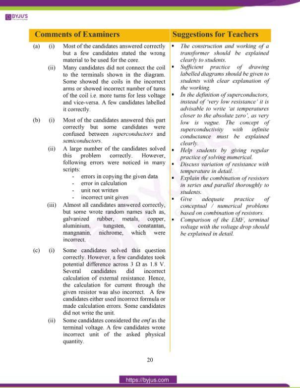 ICSE Class 10 Physics Question Paper Solution 2020