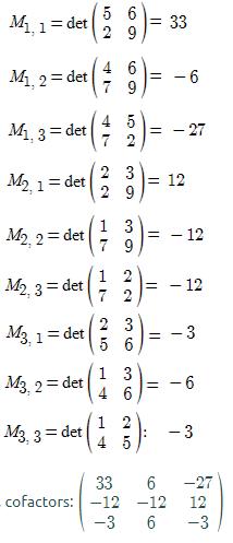 Inverse matrix 3x3 question sol2