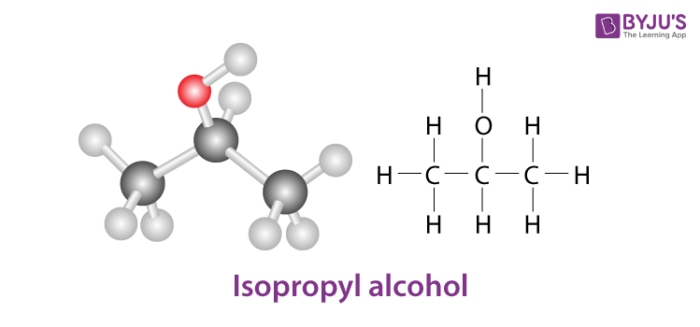 Isopropyl Alcohol Structure - C3H8O