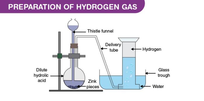 Laboratory Preparation of Hydrogen Gas