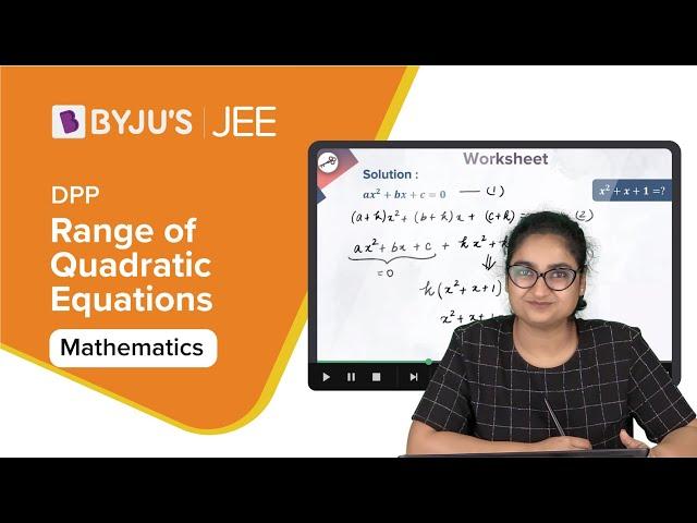 Range of Quadratic Function