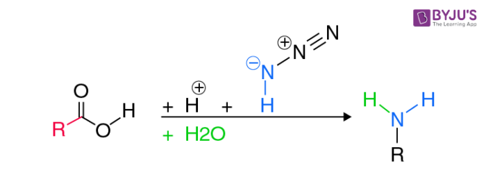 Schmidt Reaction Example for Carboxylic Acids