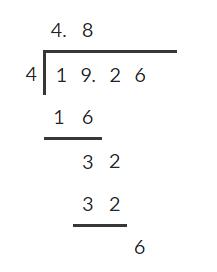 Dividing decimals 4
