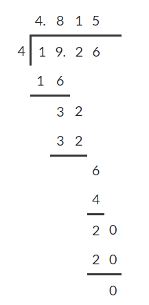 Dividing decimals 5