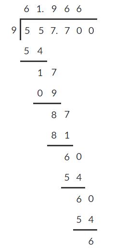 Dividing decimals 6