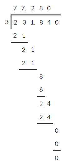 Dividing decimals 7