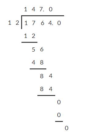 Dividing decimals 8