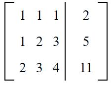 Gauss elimination example sol 1