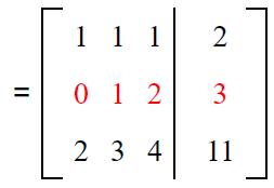 Gauss elimination example sol 2