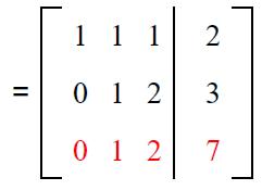Gauss elimination example sol 3