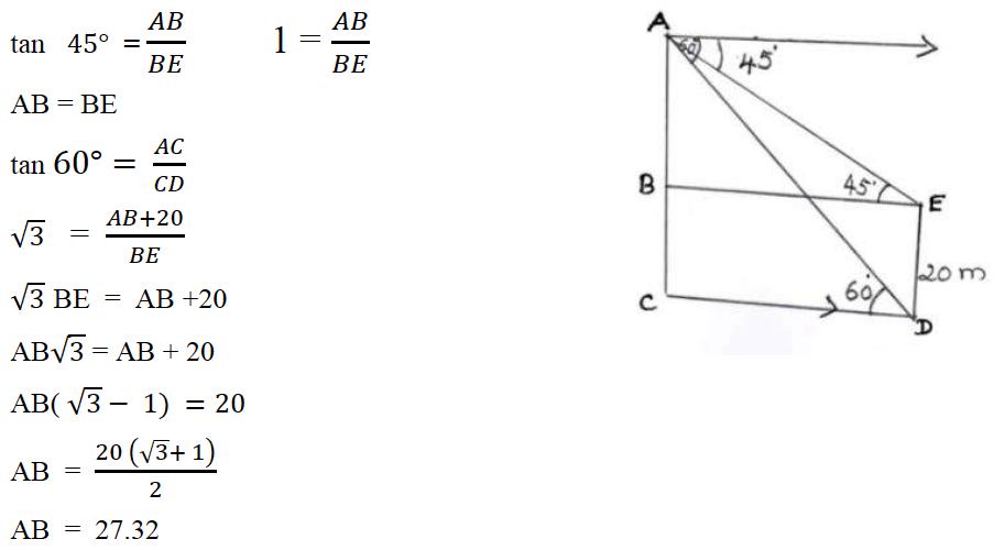 ICSE Class 10 Maths Question Paper Solution 2020-27