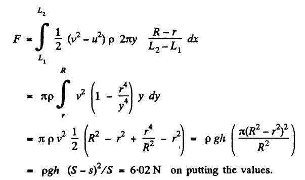 JEE Solutions Paper Of Hydrodynamics