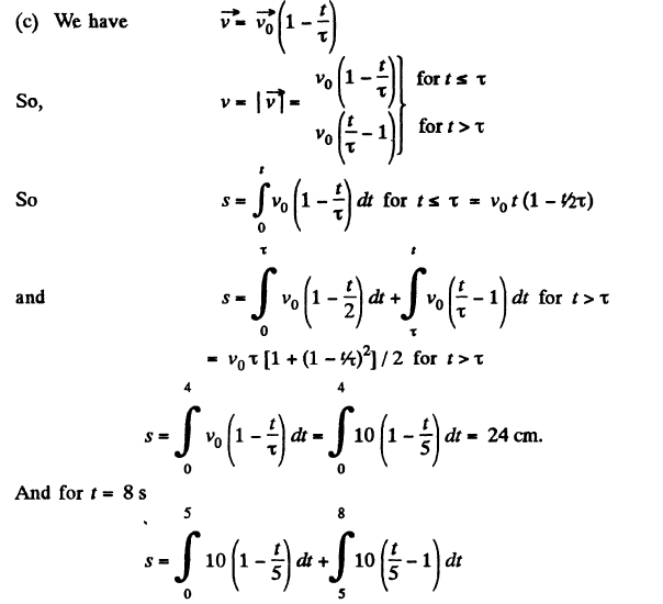 Kinematics JEE Book Solution Paper