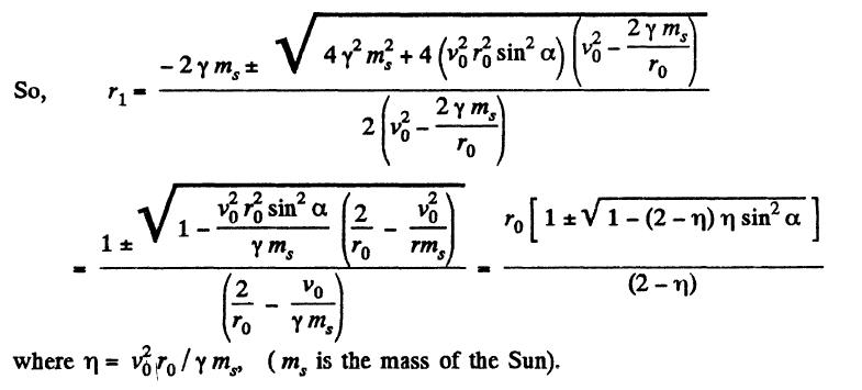 Universal Gravitation Solution Paper