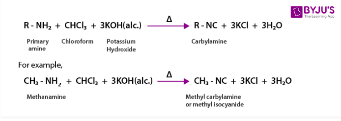 Carbylamine Reaction