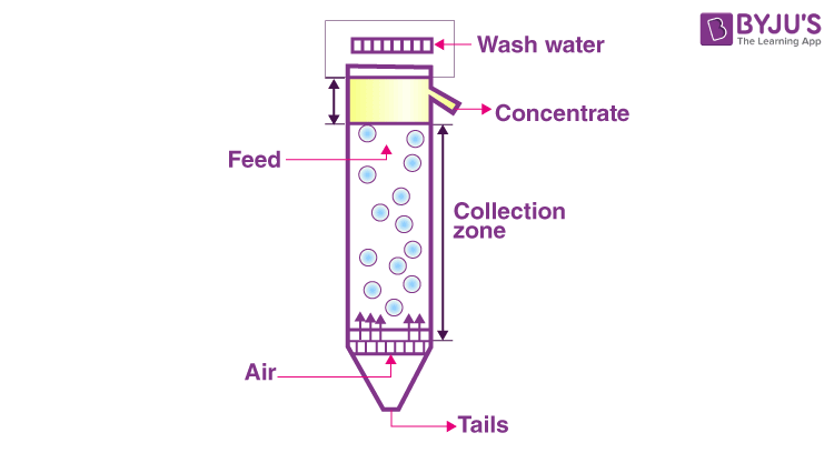 Froth floatation column