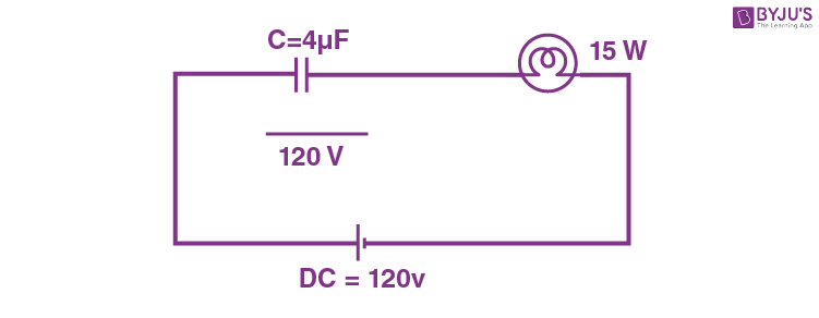 Capacitor reactance AC and DC
