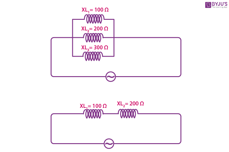 Combination Of Inductive Reactance