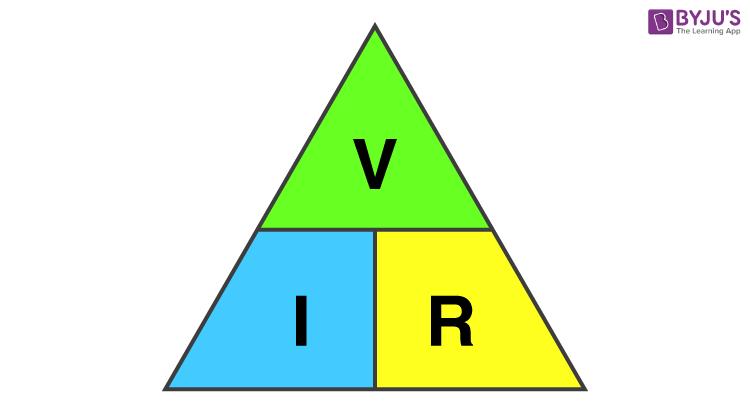 VIR - Ohm's Law Triangle