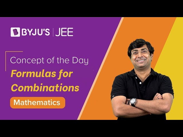 Formulas for Combinations