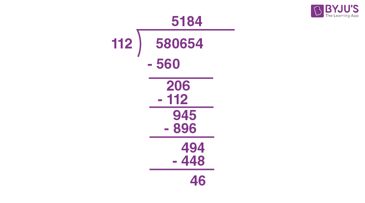 Division by 3 digit number