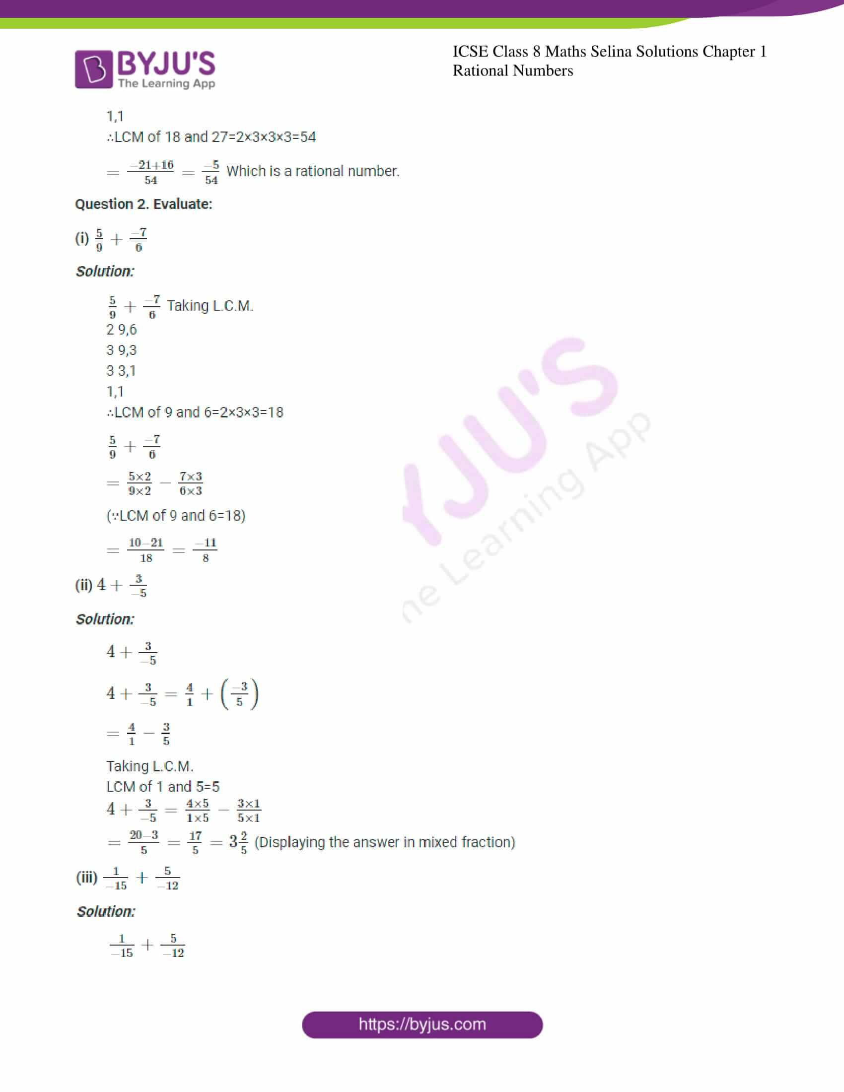 icse april7 class 8 maths selina solutions chapter 1 rational numbers 04