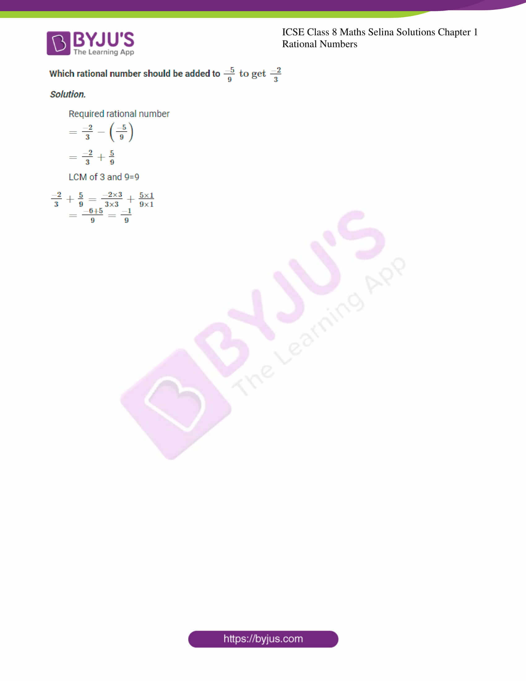 icse april7 class 8 maths selina solutions chapter 1 rational numbers 24