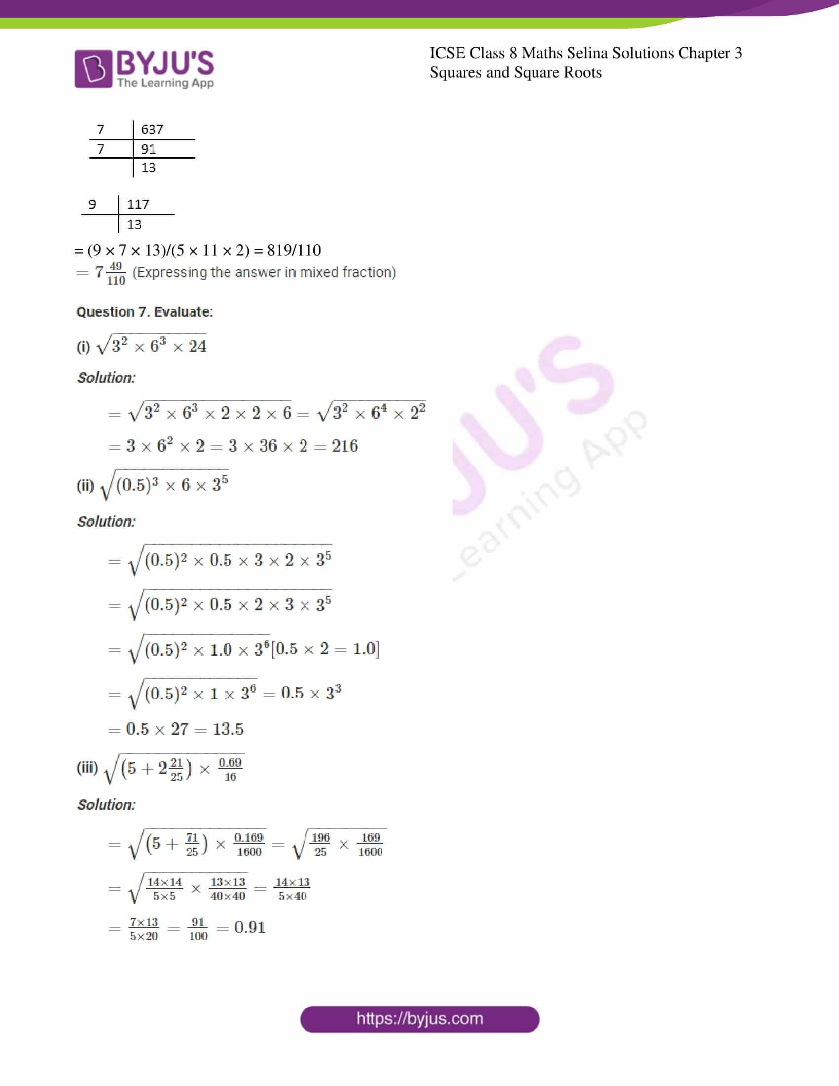 icse april7 class 8 maths selina solutions chapter 3 squares and square roots 05