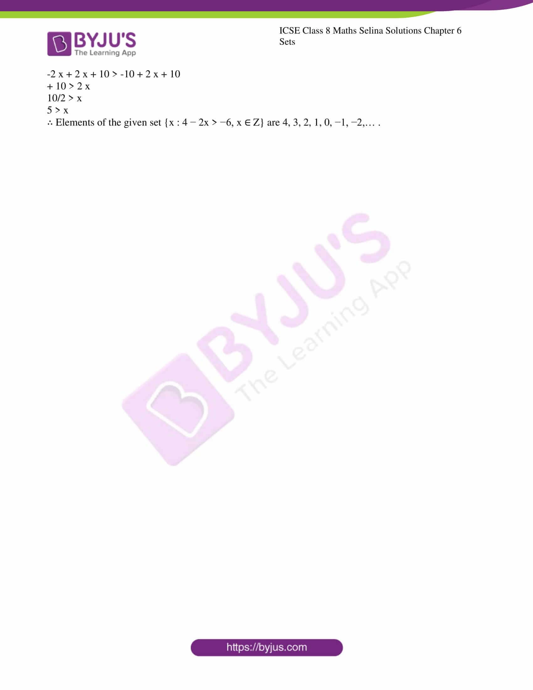 icse april7 class 8 maths selina solutions chapter 6 sets 06