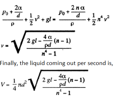 IE IRODOV Solutions Capillary Effect Question 12