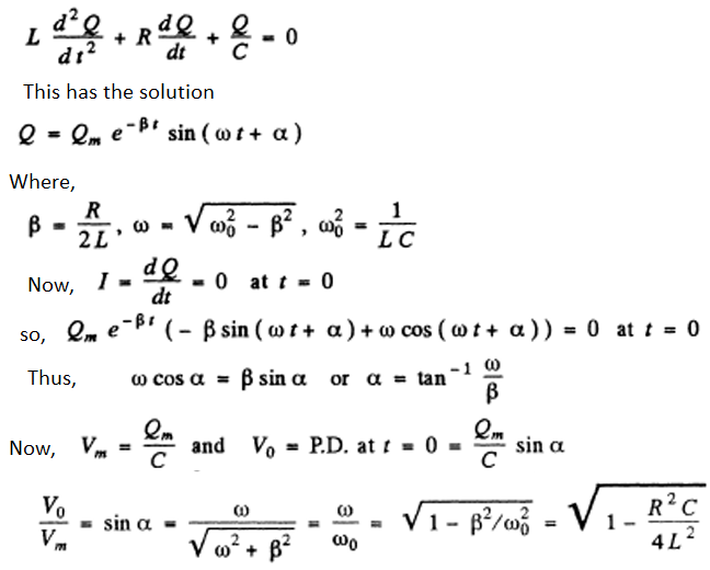 IE IRODOV Solutions on Electric Oscillations Question 9