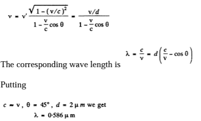 IE IRODOV Solutions Optics Of Moving Sources Question 14
