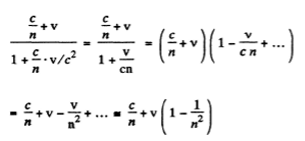 IE IRODOV Solutions Optics Of Moving Sources Question 16