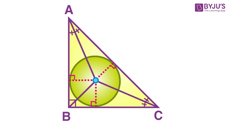 Incenter of right triangle