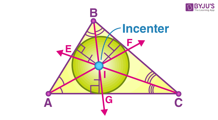 Incenter of triangle angle