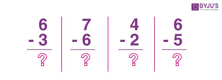Subtraction 1 digit