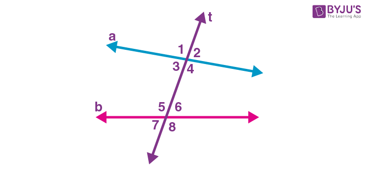 Transversal lines and angles 1