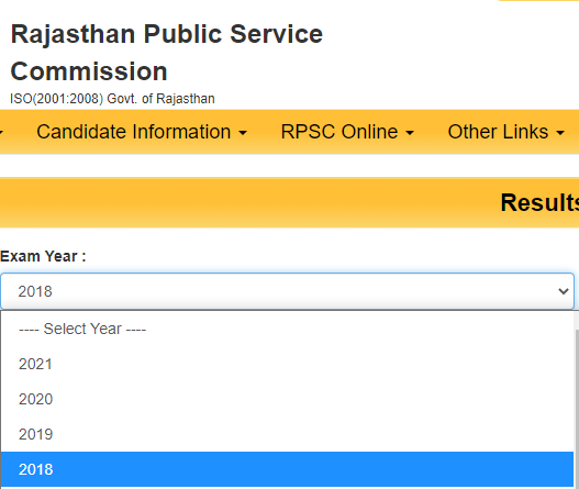How to download RPSC RAS Result