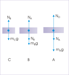 Forces acting on the individual elements