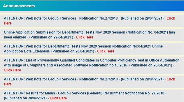 How to download APPSC Group 1 Result