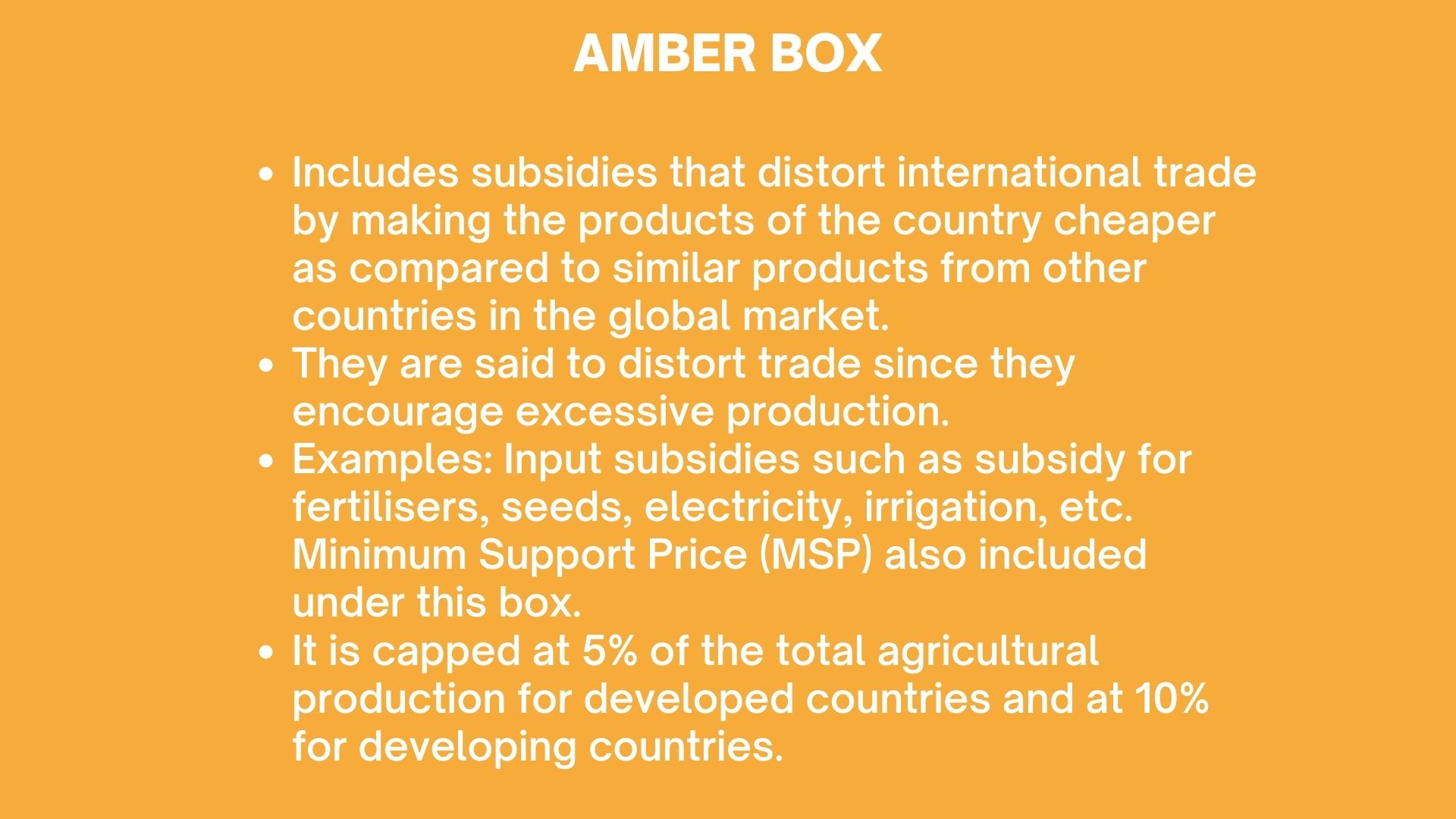 WTO Amber Box
