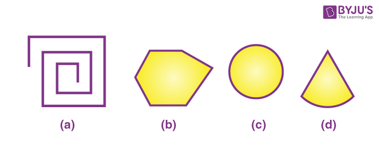 Examine whether the following are polygons. If anyone among these is not, say why?